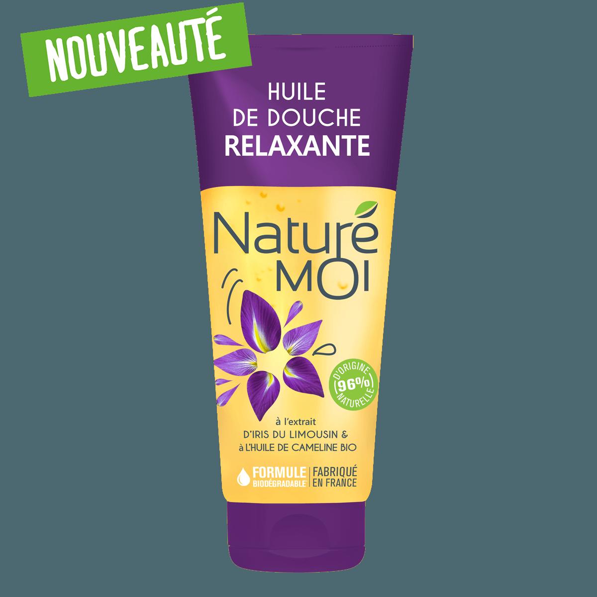 Image Huile de douche Relaxante à l'Iris du Limousin et l'huile de Cameline BIO