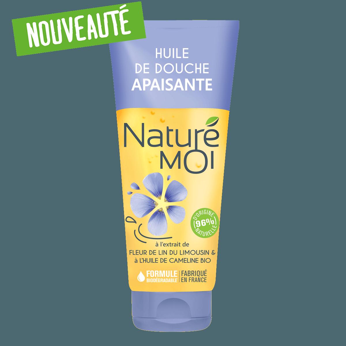 Huile de Douche Apaisante à la fleur de Lin du Limousin et à l'huile de Cameline BIO