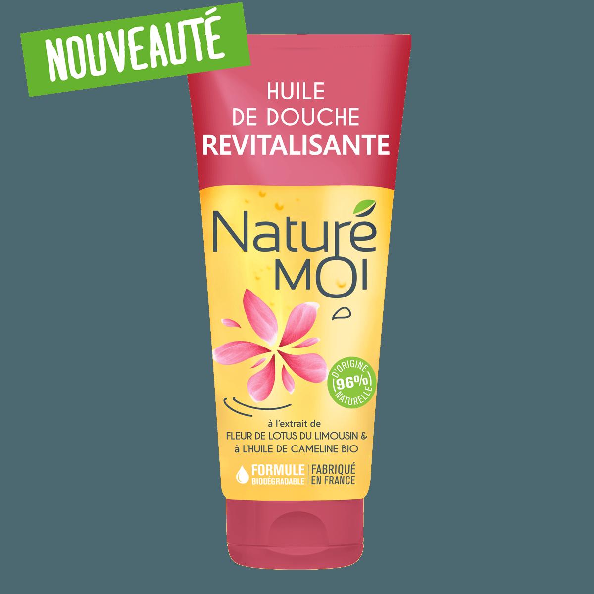 Huile de Douche Revitalisante à la fleur de Lotus du Limousin et à l'huile de Cameline BIO